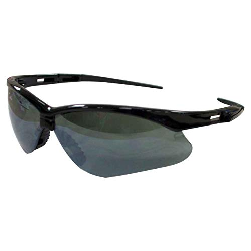 - Jackson Safety V30 Nemesis Smoke Mirror Lens Safety Eyewear with Black Frame