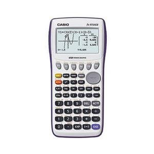 Casio Graphing Calculator with Large 21-Character x 8-line Display with Dual Screen Capability. 62K RAM with USB - White - New - Retail - FX-9750GIIWE-L-IH by Casio