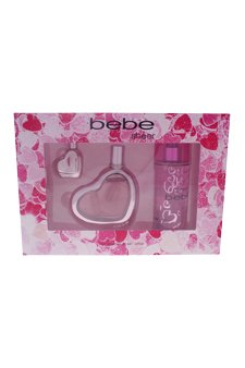 Bebe Sheer 3 Piece Eau de Parfum Spray Gift Set for Women (Peony Perfume Sheer)
