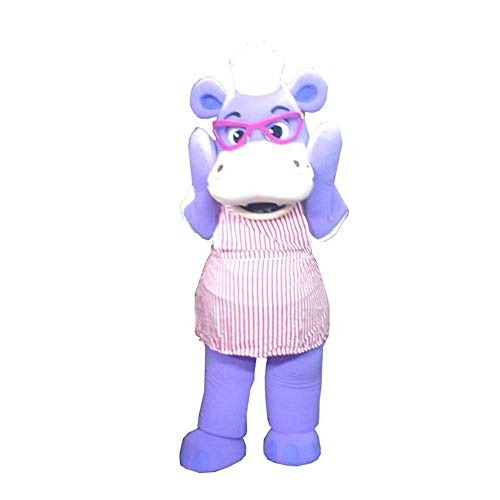 Hallie of Doc McStuffins Purple Hippopotamus Mascot Costume Character Cosplay Party Birthday Halloween -