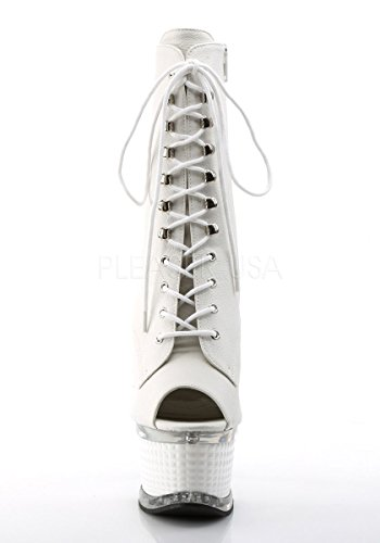 Pleaser ILLUSION-1021 Wht Faux Leather/Wht