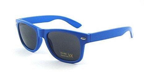 unisexe Rétro soleil Lunettes Style hommes Nerd de Boolavard femmes Foncé Vintage Bleu gBfq6Cx
