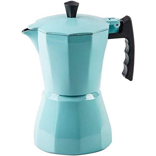 Fransande Cafetera italiana de aluminio Moka Espresso Percolator Encimera Olla 300ML Estufa Herramientas de Cocina Azul