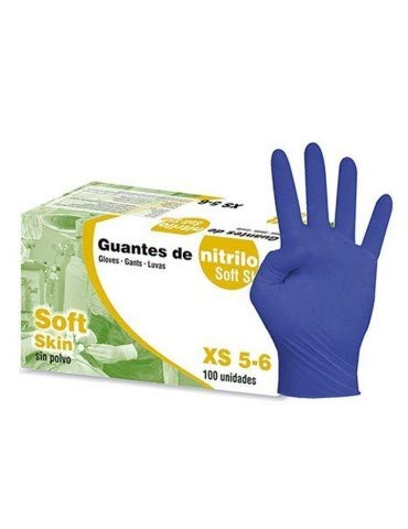 200/Unidades Soft de mano 09772603/Guantes nitrilo, Sensitive, sin talco, XS, color blanco