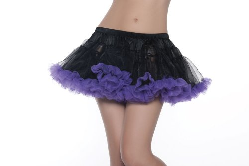 Be Wicked Costumes Women's Kate 12 Inch 2-Layer Petticoat Costume Accessory, Black/Purple, One Size
