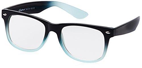 Rockford Wayfarer Sunglasses (Black and Light Blue) (RF-074-C14)