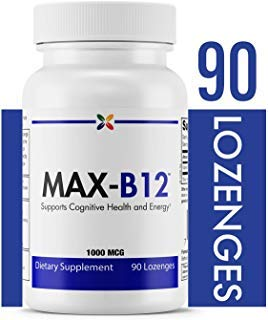 (Stop Aging Now - MAX-B12 Vitamin B12 Lozenges 1000 mcg - Supports Cognitive Health and Energy - 90 Lozenges )