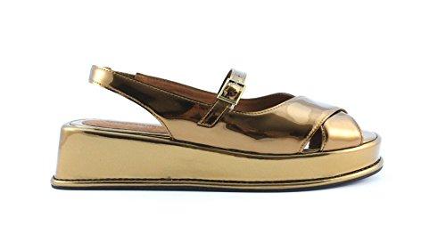 Sandalo Jeffrey Campbell BEASLEY JC-293-3 MIRROR BRONZO Taglia 36 - Colore BRONZO