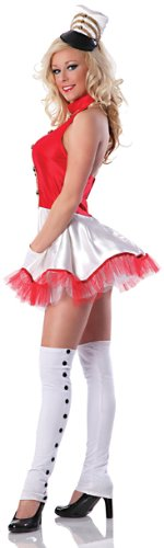Delicious Toy Soldier Costume, Red/White, X-Small (Sexy Soldier Costumes)