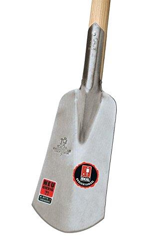 Silber Idealspaten 10170206 Marschspaten feinpoliertes Blatt mit Eschen-T-Stiel 92x30cm 40 x 25 x 15 cm