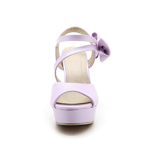 Violet AdeeSu Ouvert Bout SLC04370 Femme wn66q1IY