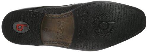 Bugatti U18111 - Zapatos Derby de Cuero para Hombre, Negro (Schwarz 100), 45