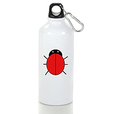 Qing111 Red Ladybug Aluminum Outdoor Sports Kettle