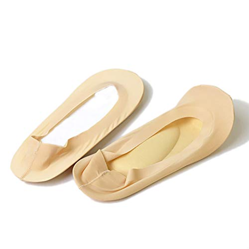 kebyy Arch Support 3D Socks Foot Massage Health Care Women Summer Autumn Female Socks Light Beige