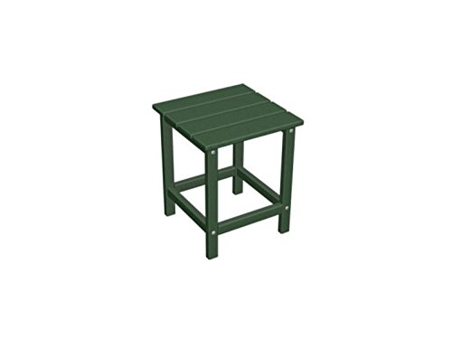 """UPC 009312891245, 18"""" Recycled Earth Friendly Outdoor Patio Square Side Table - Green"""