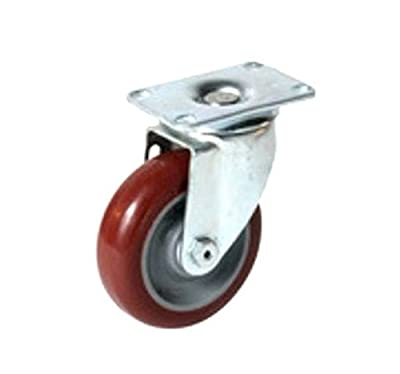 "Colson Swivel Caster with 3-1/2"" x 1-1/4"" Hi-Tech Polyurethane Wheel 2-3256-95"