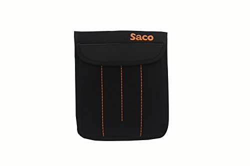 7dd69c20b9bf Saco Ped-271 External Hard Drive Sleeve Case Pouch Bag (Black   Orange)   Amazon.in  Computers   Accessories