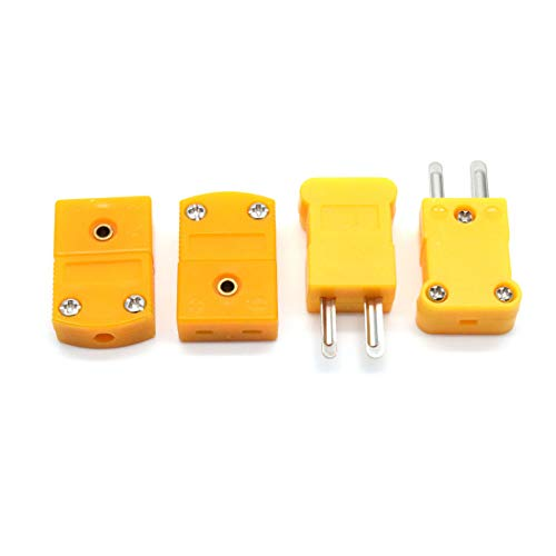 Aodesy K Type Thermocouple Connector 10Pcs 5Pairs Male and Fmale Yellow Color by Aodesy (Image #2)