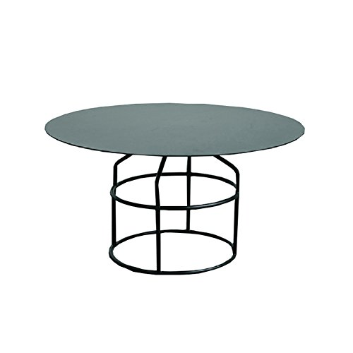 Perfect Furniture CSQ Iron Coffee Table Side Table Living Room Restaurant Bedroom Round Desktop Sofa Side Table Metal Stylish |Gold Black Tea Table (Color : Black, Size : B)