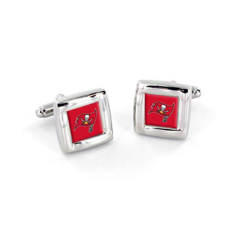 NFL Tampa Bay Buccaneers Square Cuff LinksSquare Cuff Links, Team Color, 4