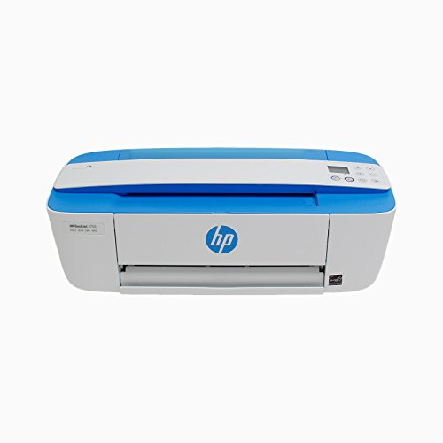 HP DeskJet 3755 All-in-One Printer in White and Light Blue (Certified Refurbished)