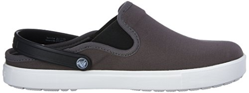 crocs Citi Lane Canvas Clog - Zuecos Unisex para adulto Grigio (Graphite/White)