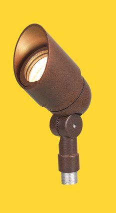 Corona Lighting CL-505-BZ 50W Low Voltage Mini Aluminum Bullet Directional Light w/360° Rotatable Shroud - Bronze