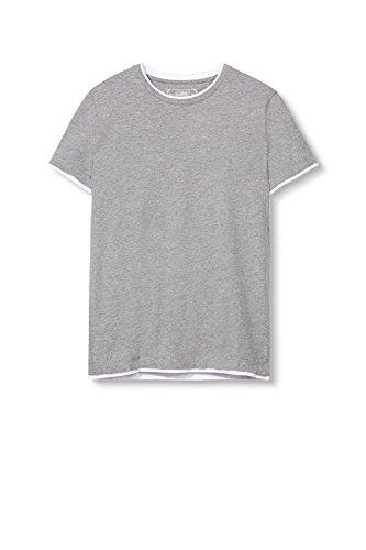 ESPRIT 997ee2k807-2in1, Camiseta para Hombre Gris (MEDIUM GREY 035)