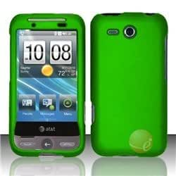 Rubberized Cover compatible with HTC Freestyle F5151, Neon Green