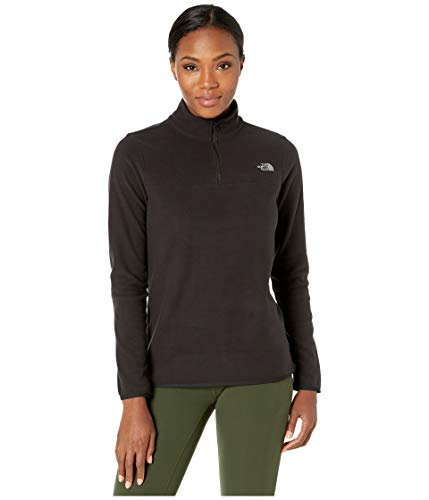 The North Face Women's TKA Glacier Quarter Zip, TNF Black/TNF Black, M (Womens North Face Fleeces)