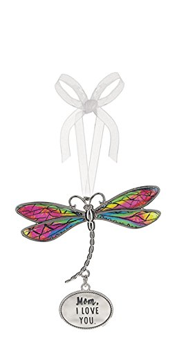 (Mom, I Love You Rainbow Inlay Wings Dragonfly Ornament - By)