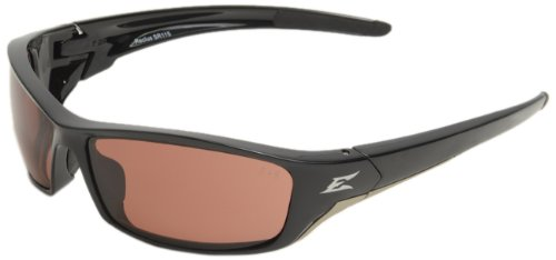 Edge Eyewear SR115 Reclus Safety Glasses, Black with Copper