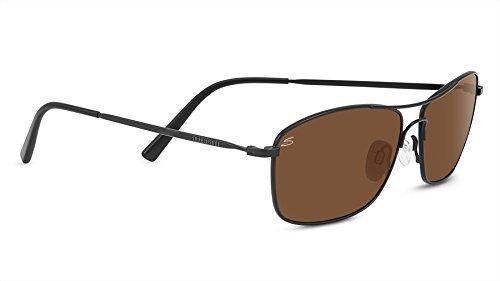 Serengeti Corleone Polarized Driver Sunglasses, Satin Black (Serengeti Satin Sunglasses)