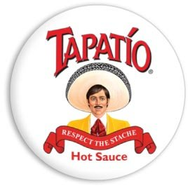 2013 Campaign Buttons - Tapatio, RESPECT THE STACHE, Officially Licensed Product Brand Artwork, 1.25