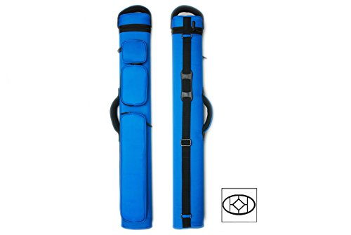 Delta 2x5 Lotus 2Butts and 5Shafts Pool Cue Case (Several Colors Available) (Blue)