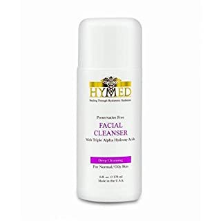 Hylunia Facial Cleanser with Triple Alpha Hydroxy Acids - 6.0 fl oz - Anti-Aging for Wrinkles - with Lemon Essential Oil and Retinol - Natural Vegan Exfoliator - Acne - Rapid Skin Repai