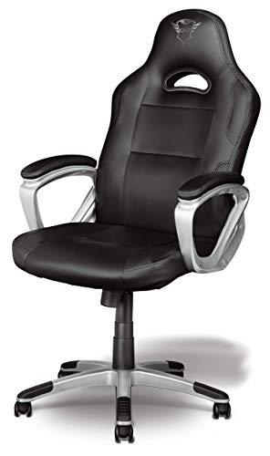 Trust GXT 705 Ryon Silla Gaming ergonomica, disenada para jugar comodamente durante horas, negro