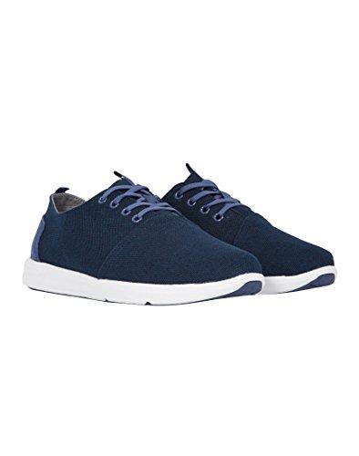 TOMS Men's Del Rey Navy Burlap Sneaker 9 D (M)