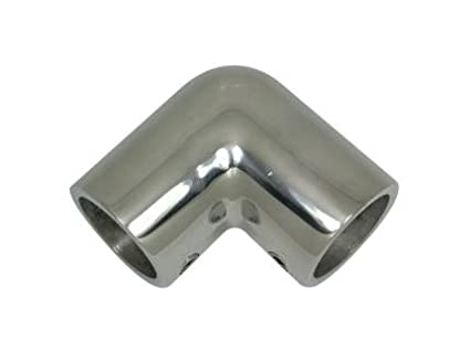 AISI 316 Marine Grade Stainless Steel Boat Yacht Handrail 90 Degree Elbow 1