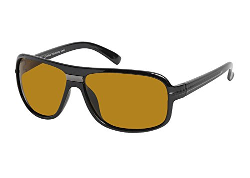 Eagle Eyes STEALTH Polarized Sunglasses- UVA, UVB and Blue Light Blocking Protection - Black ()