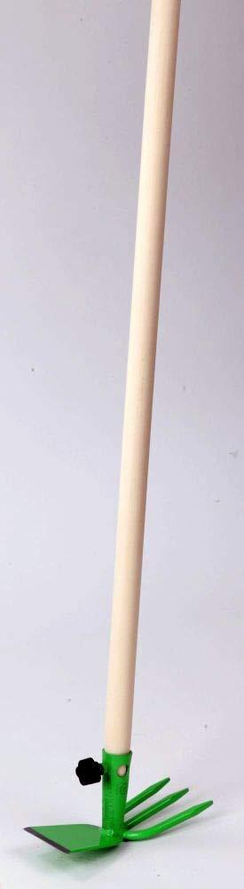 Floraworld 018828 Doppelhacke Premium mit Stiel 100 cm gr/ün