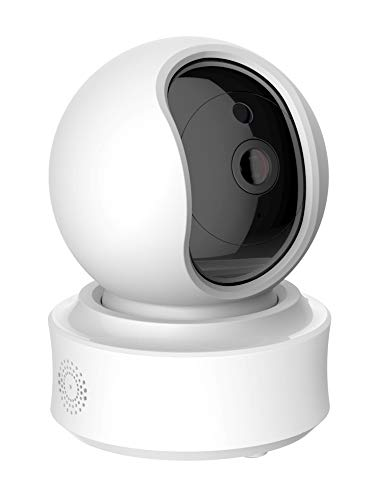 Dome 1080P HD Home Security IP Camera, Motion Tracker, Wi-Fi Baby and Pet Monitor, Night Vision, Two-Way Audio, iOS/Android, Cloud Storage Optional