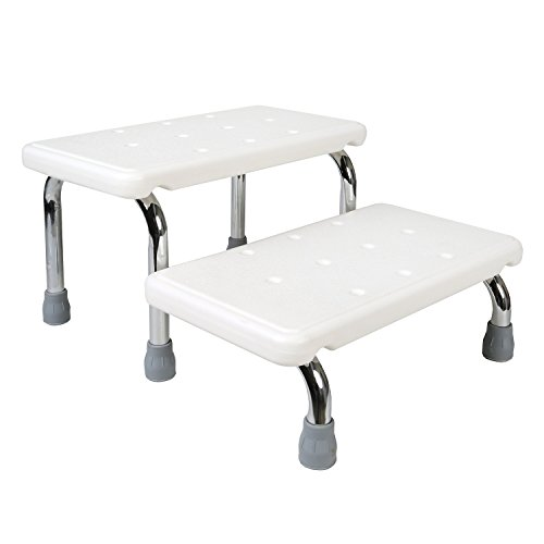 Bath Safety Steps - 2 Stairs - Steel Frame Non-Slip Rubber Feet by SUPPORT PLUS (Image #1)
