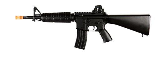 WELL M4 DMR AEG Semi/Full Auto Electric Airsoft Rifle Gun Hybrid Gearbox High Capacity Magazine FPS 260