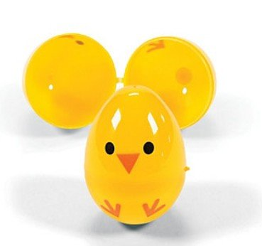 Easter Egg Chicks- Plastic Containers for Party Favors and Easter Egg Hunts (72 Pieces)