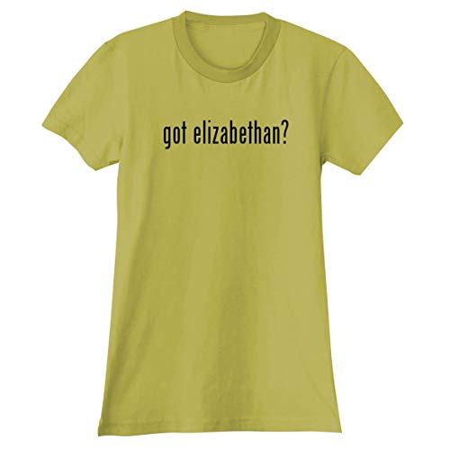The Town Butler got Elizabethan? - A Soft & Comfortable Women's Junior Cut T-Shirt, Yellow, Large -