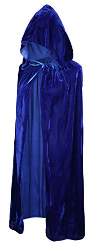 Crizcape Kids Costumes Capes Cloak with Hood for Halloween Party Ages 2 to 18 (Blue, -