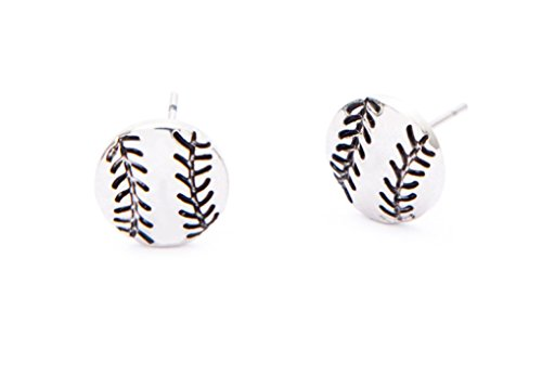 Baseball Player Girl - Infinity Collection Softball Earrings- Softball Jewelry, Baseball Earrings, Softball Stud Earrings - Perfect Softball Player, Softball Team and Coaches Gifts