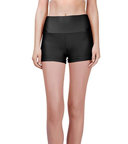 Speerise Womens Spandex Shorts Yoga Exercise Dance Short Pants, Black, M