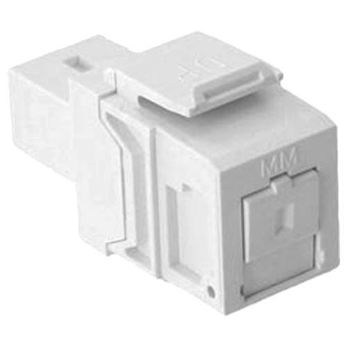 Leviton QuickPort SC Fiber Optic Snap-In Connector, Phosphor Bronze Sleeve, White (41085-MWC) ()
